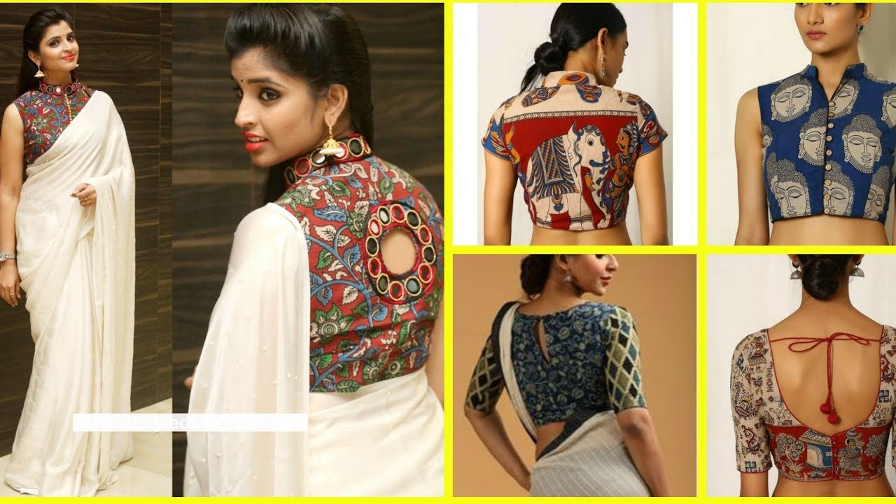 Kalamkari blouse – Latest Kalamkari work designer blouse designs