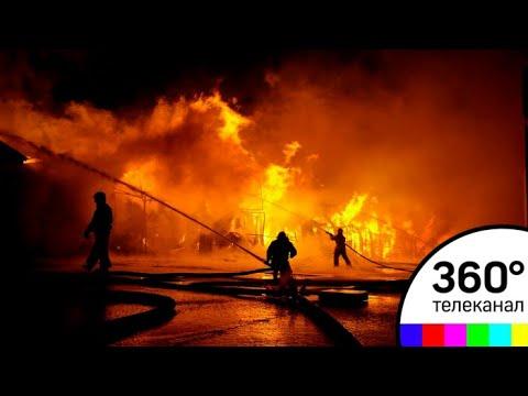 """Торговый центр """"Перспектива"""" в Чехове сгорел почти дотла"""