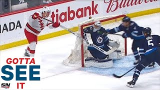 GOTTA SEE IT: Andrei Svechnikov Does It Again! Scores Lacrosse-Style Goal On Connor Hellebuyck