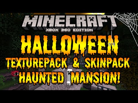 Minecraft Xbox 360 & Xbox One - HALLOWEEN TEXTUREPACK & SKIN PACK+ HAUNTED MANSION DOWNLOAD!!