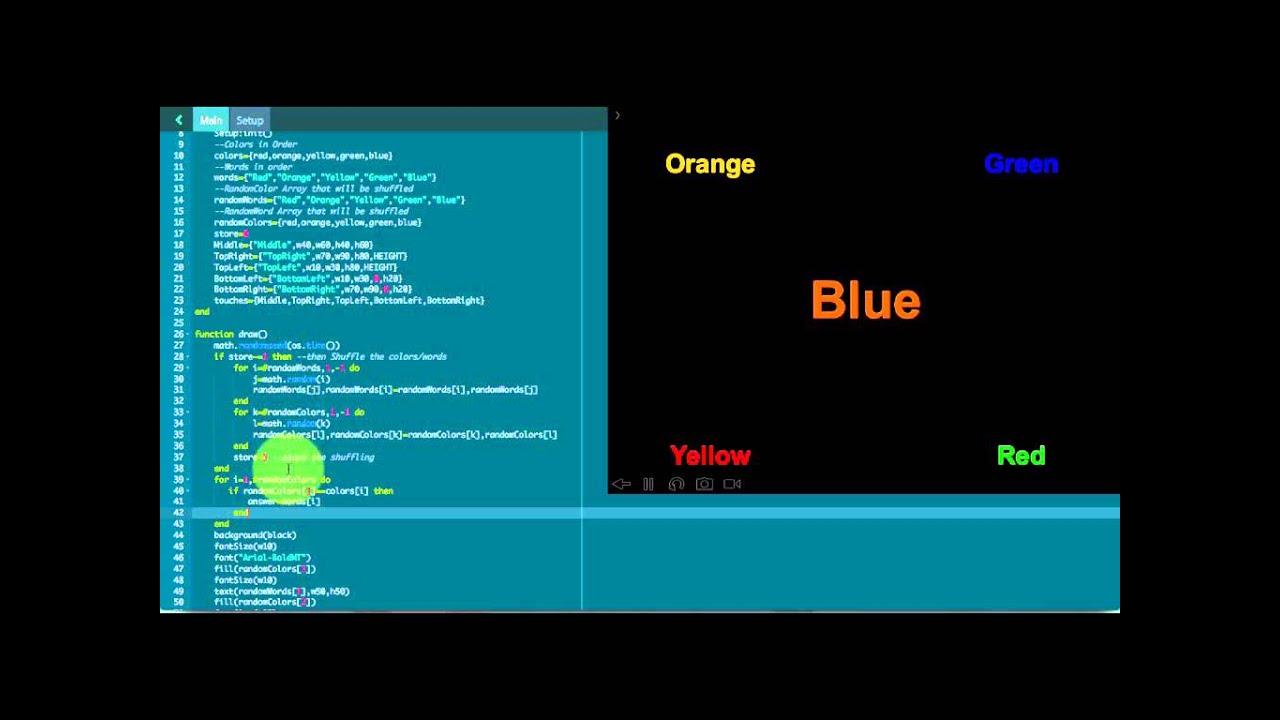 Codea Tutorials #013--Color Troll in Lua, iPad Programming (Part 2)