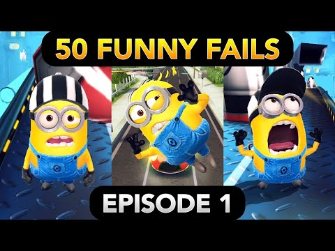 Minion Rush 50 FUNNY FAILS (Episode 1) | Gru's Lab, Residential Area