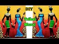 DIY African Tribal Mural on Canvas | How to make mural Painting