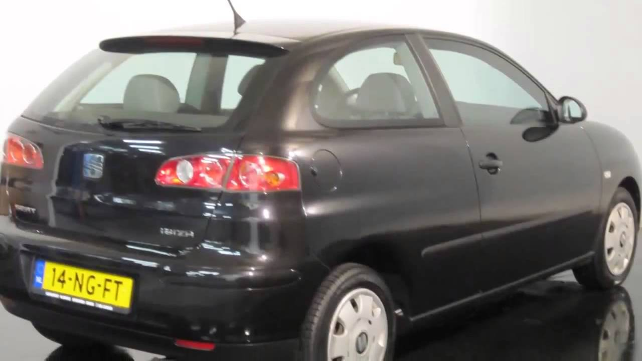 seat ibiza occasion 2003 1 4 16v 3 drs stella airco youtube. Black Bedroom Furniture Sets. Home Design Ideas