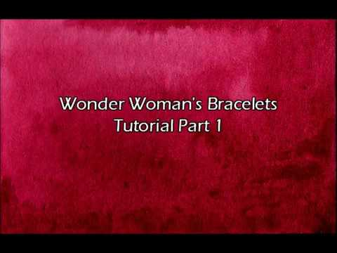 Wonder Woman Bracelets Cosplay Tutorial Part 1- the build