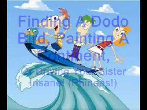 Phineas and Ferb theme song lyrics