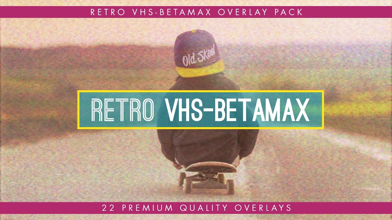 VHS-Betamax Retro Overlay Pack - Available in 4k & HD