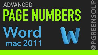Advanced Page Numbers Word Mac