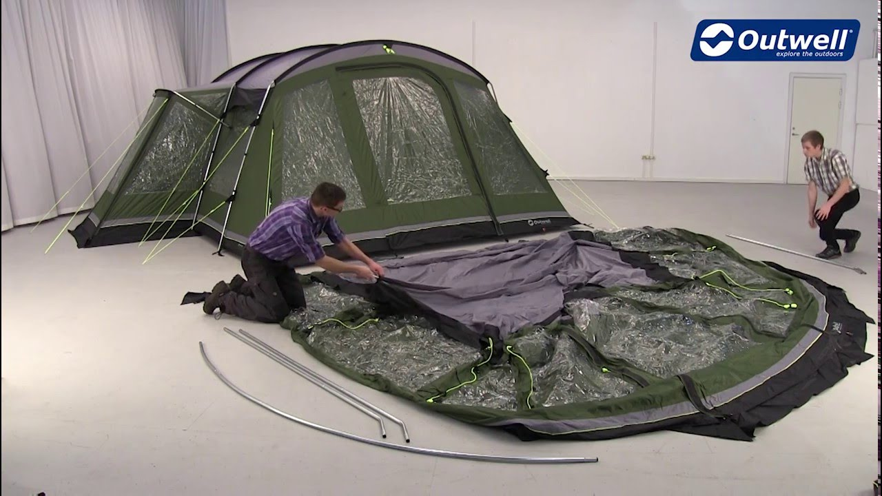 Outwell Montana 6 Awning Pitching Video