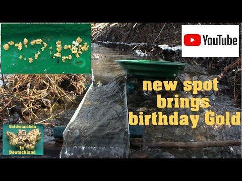 Goldwaschen in Deutschland - 20 - new spot brings birthday Gold