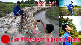Mobile Photoshoot In Android Phone Mi Y1 || Mobile Se Photoshoot || DJ Photography