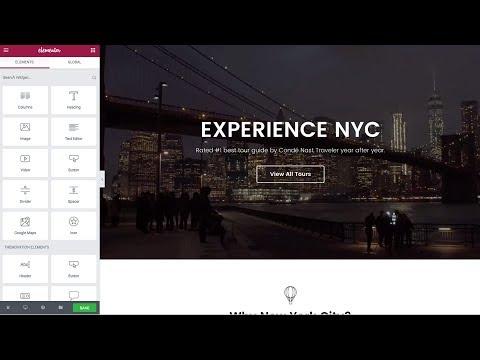 Tour Booking & Travel WordPress Theme - Live page builder