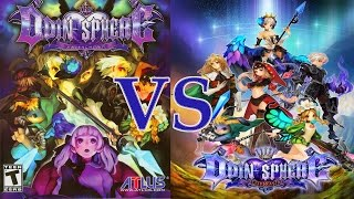 Odin Sphere Leifthrasir - HD Remaster Vs. Classic | Graphical & Gameplay Comparison {English, HD}