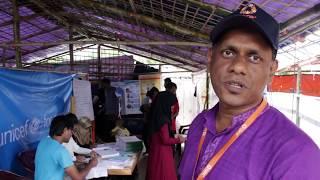 Treating malnourished refugee children in Bangladesh