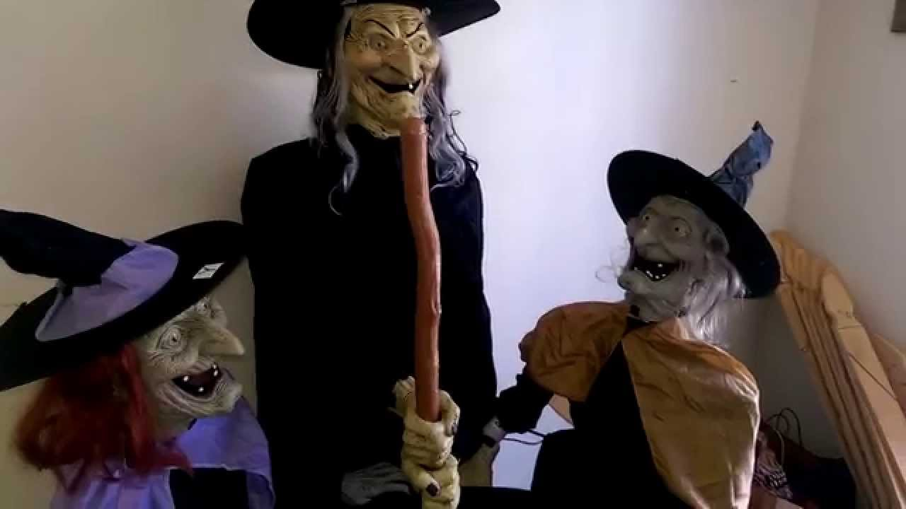 Halloween prop review stitch witch sisters spirit youtube for 3 witches halloween decoration