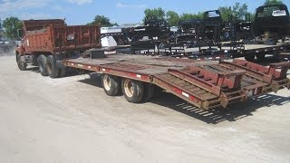 IH 4300 TRANSTAR CUMMINS DUMP TRUCK & DYNAWELD EQUIPMENT TRAILER 1669 9016