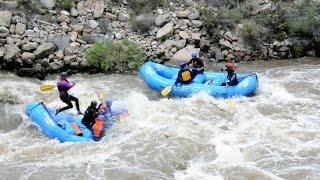"""Highwater"" Arkansas river rafting"