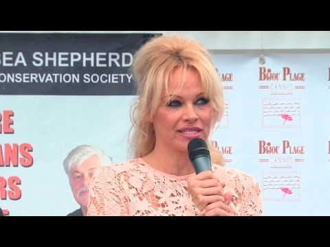 Pamela Anderson at Sea Shepherd & Pamela Anderson Cannes Event