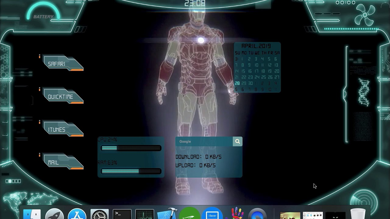 Jarvis Iron Man Plus Video Background Mac Live Wallpaper Iwall