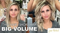 The Perfect 10 Minute Voluminous Bouncy Waves Tutorial || Short + Thin Hair || Jess Hallock