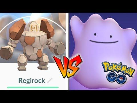 QUÉ PASA si USO DITTO CONTRA REGIROCK en Pokémon GO! Nuevo Legendario! [Keibron]