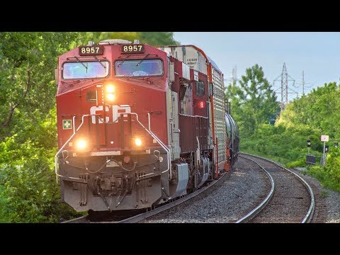 4K - Quebec Railfanning! Freight and Passenger Train Action around Montreal