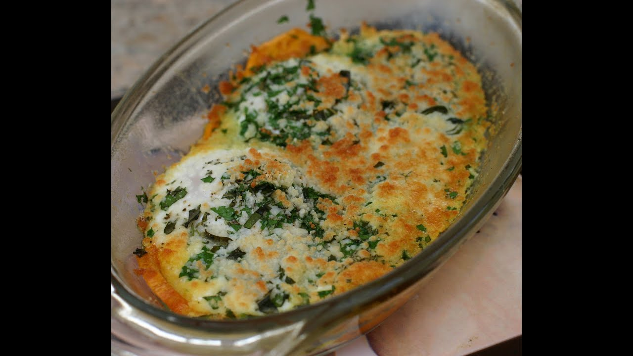 Baked Eggs With Fresh Herbs, Parmesan Cheese, Healthy, Delicious and ...