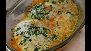 Baked Eggs With Fresh Herbs, Parmesan Cheese, Healthy, Delicious And Easy. By Rockin Robin