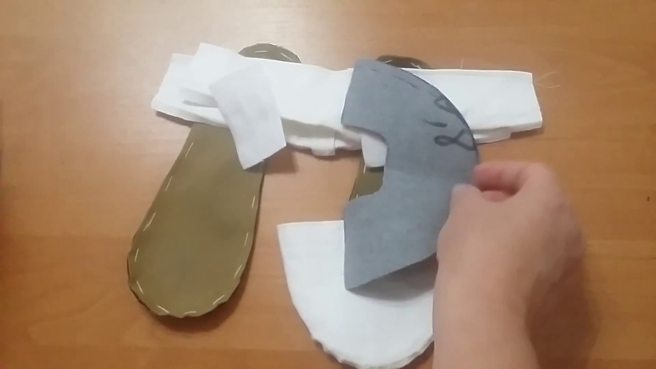Выкройка для пуант из мастики