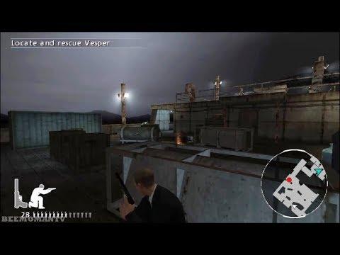 007: Quantum of Solace (PS2) Walkthrough Part 10 - Barge