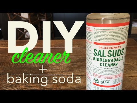 Homemade Kitchen Cleaner with Baking Soda and Dr. Bronner's Sal Suds