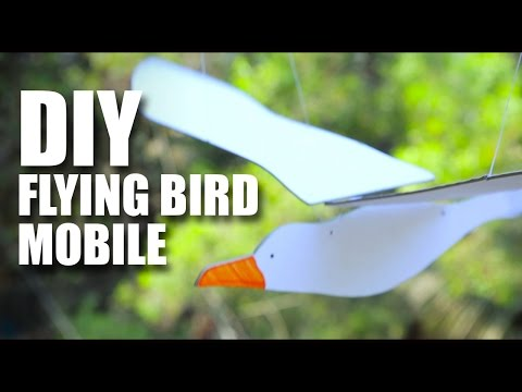 How To Make A DIY Flying Bird Mobile
