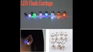 Christmas gift LED earrings Colorful LED Light Shine Diamond Earring Ear Stud