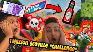 🔥Fortnite *Chilli Challenge* (1 mio. Scoville!!) um *500 Euro!* (endet krass) | Can Wick