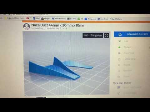 3D Printed NACA Air Intake Ducts