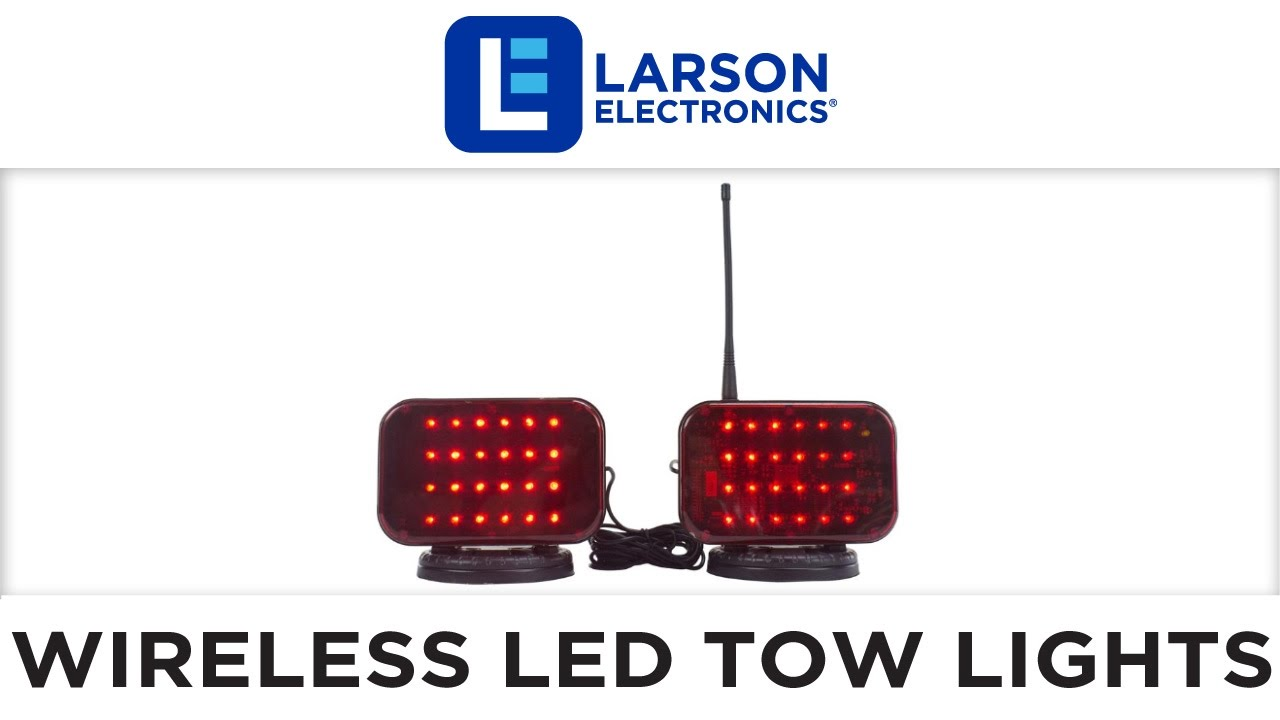 Wireless LED Tow Lights - Battery Operated - 30 Foot Wireless ...