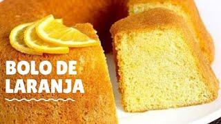 Como fazer massa de bolo de laranja