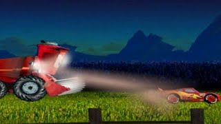 TRACTOR TIPPING Lightning McQueen Run (video and game of the film Cars)
