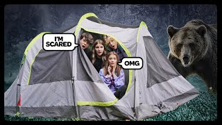 LAST TO LEAVE THE TENT WINS $10,000 CHALLENGE **HAUNTED FOREST** ⛺🌲 Sophie Fergi