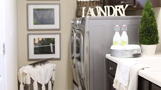 ORGANIZE WITH ME   Laundry Room Organization Ideas