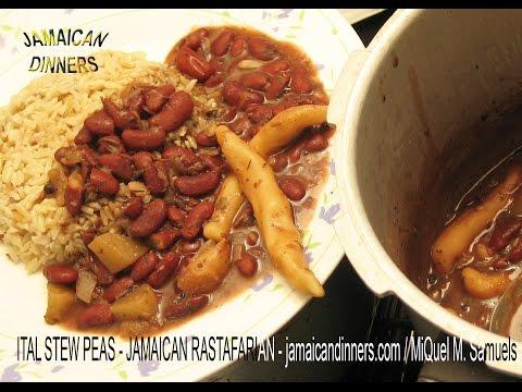 "ITAL STEW PEAS: ""Rastafarian Vegetarian Dinners cookbook recipe"""