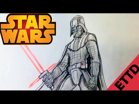 How To Draw Darth Vader From Star Wars Easy Things To Draw Youtube