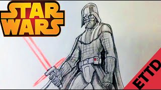 How to Draw Darth Vader from Star Wars - Easy Things To Draw