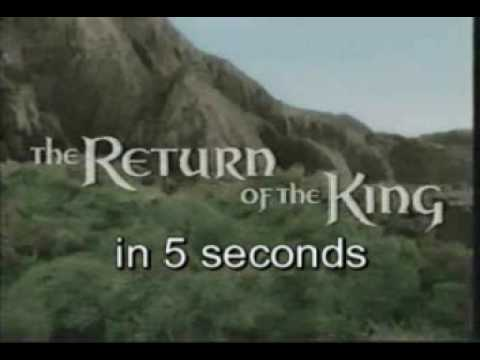 Lord of the rings in 7 seconds
