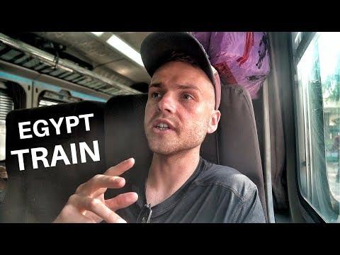 Egypt TRAIN TRAVEL! السفر بالقطار فى مصر