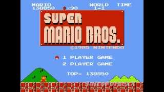 Old-School Gaming - Gameplay Footage #4 - Super Mario Bros. (Famicom/NES)
