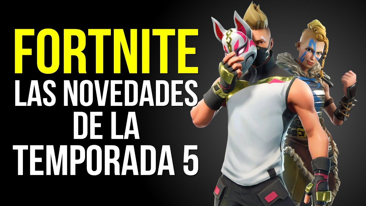 Fortnite las novedades de la temporada 5 youtube for Fortnite temporada 5 sala