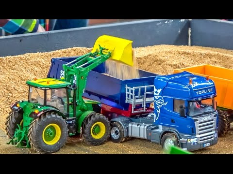 RC trucks & tractors in ACTION! SCANIA! John Deere! Case! And more!
