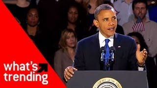 Obama's 2012 Victory Speech Plus Top 5 YouTube Videos of 11/7/12