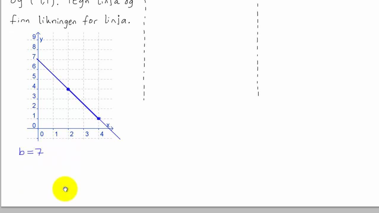 Matematikk 1P - 037 - Stigningstall og konstantledd 2